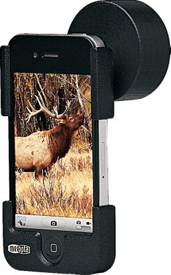 Hunting Leave the cumbersome camera equipment at home and make use of the versatility of your iPhone 4/4S to capture long-range images in the field. The 42mm adapter slips over the eyepiece of Cabelas Euro and Euro HD binoculars and the 49mm model fits the Meopta MeoStar spotting scopes. The cradle supports the iPhone in perfect alignment with the optic. Now youll be able to take superior wildlife photos from a distance and upload them instantly to email or the Web. Constructed of injection-molded polycarbonate, the adapter weighs only a few ounces, yet shrugs off the abuse of rough terrain and harsh weather conditions. Includes a carrying lanyard for backup security when attached to optics. Made in USA. Available: 42mm, 44mm, 49mm, 55.3mm, 55mm, 57mm. Type: Phone Adapter. Size 49mm. - $9.88