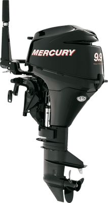 Entertainment When you buy a Mercury, youre investing in legendary, four-stroke performance in quiet, fuel-efficient outboards. The lightweight 2.5 and 3.5hp models feature 360 steering and forward/neutral shifting. The portable 4hp, 5hp and 6hp have a single cylinder that boasts 123cc of displacement; CDI ignition; forward, neutral and reverse shifting; and through-the-prop. exhaust for a smooth operation. The 8hp and above give you a fuel efficiency your wallet will appreciate, plus a multifunctional tiller handle for one-hand shifting, stopping, throttle control, tilting and steering. All motors have a 3-star C.A.R.B. rating and are tiller steer. Three-year limited manufacturers warranty. The 4, 5, and 6 horsepower models have these additional enhancements: Longer tilller handles for easier use, front mount shift handles for more convenience and comfort, integral fuel tanks with remote fuel tank capability is standard and new top cowl styling. The new 4 HP Four Strokes make operation and portability easy. Plus, clean, quiet, fuel-efficient Four Stroke performance makes them the obvious power of choice. Motor ships without oil. Please add oil before starting. Legend: M=Manual start; L=Long shaft; E=Electric start; H=Tiller handle; GA=Gas assist; O=Oil injection; PT=Power trim; XL=Extra long shaft (25); C=Counter rotation Outboard motors may not be returned. Items needing repair should be returned to an authorized service center for repair under manufacturer warranty guideline. Type: Four-Stroke Outboards. - $899.00