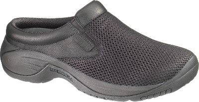 Full-grain leather and mesh uppers for optimum flexibility and breathability. Aegis-treated mesh linings resist odor. Compression-molded EVA footframes with Ortholite anatomical footbeds offer added support and comfort. Air cushions in the heels absorb shock and provide stability. Sticky-rubber soles are designed for long-lasting traction. Imported.Mens sizes: 7-15 medium width. Half sizes to 12.Colors: Black, Gunsmoke, Dark Earth. Type: Slip-Ons. Size: 7. Shoe Width: MEDIUM. Color: Black. Size 7. Width Medium. Color Black. - $84.99