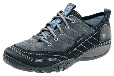Strobel construction and nubuck uppers offer flexibility and comfort. Ecoright and lazy foam footbeds. Breathable mesh linings treated with Aegis antimicrobial solution. Molded-nylon arch shanks. Captiva sticky-rubber soles. Lace-up design. Imported. Womens sizes: 6-10 medium width. Half sizes to 10.Colors: Black, Merrell Stone. Type: Oxfords. Size: 6. Shoe Width: MEDIUM. Color: Black. Size 6. Width Medium. Color Black. - $79.88