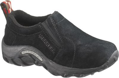 A Merrell classic, now in a model made especially for kids. They feature pigskin leather uppers and Strobel construction for flexibility and long-lasting durability. Merrel Air Cushion heels and EVA midsoles provide cushioned, shock-absorbing comfort. Quick-drying, moisture-wicking Nylex linings. Removable, perforated EVA footbeds. Nonmarking Jungle Maze rubber outsoles. Imported.Kids sizes: 1-7 medium width. Half sizes 3-1/2 to 6-1/2. 10 to 13-1/2 medium width. Half sizes to 13-1/2.Colors: Gunsmoke, Taupe, Black. - $49.99
