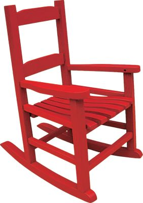 Camp and Hike This solid hardwood rocker is made from genuine Acacia for heirloom-quality durability and wear resistance. Polyurethane paint. Imported.Dimensions: 18.3L x 14.5W x 22.6H. Colors: Red, White, Natural. - $29.88
