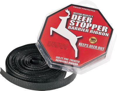 Hunting Perimeter protection system keeps deer, moose and elk out of growing areas. Simply string the ribbon up 30 high around your garden, and avoid the damage caused by unwanted bedding, rubbing and foraging. Odorless and safe for use around fruits and vegetables. Protects a 25-ft. x 25-ft. garden up to 30 days. Available: 100-ft. ribbon. Color: Garden. - $15.99