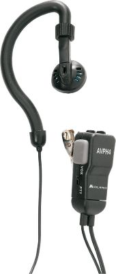 Hunting The AVPH4 wraparound earpiece allows for hands-free use of most Midland GMRS two-way radios. In-line VOX-PTT switch and dual-pin connector. Lapel clip. Per pair. - $29.99