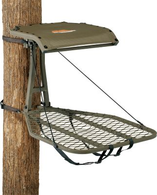 Hunting Lightweight, quiet and easy to use just what you want from an affordable hang-on stand. Convenient adjustable-level seat and platform deliver optimal comfort on leaning trees. SteelTough construction delivers optimal strength and has a durable powder-coated finish to resist the damaging effects of the weather. ComfortMAX contoured, tight sling seat folds against tree for standing shots. Entire stand folds flat for backpacking and includes shoulder straps for easy carry. Includes the CamLock ratchet strap receiver, allowing you to pre-set your stand location for quick, easy hanging. Stands are tested to TMA standards and include a full-body safety harness with Suspension Relief System (SRS). Adjustable seat height: 17-21. Seat size: 20W x 17D. Platform size: 24W x 30D. Weight: 19 lbs. Weight capacity: 300 lbs. A Video Public Service Announcement from theTREESTAND MANUFACTURERS ASSOCIATION Type: Steel. - $119.99