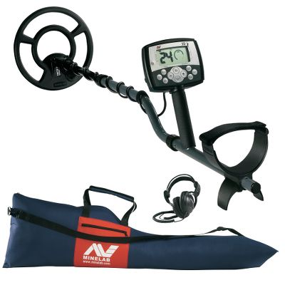 Camp and Hike If you're looking to get into the hobby of treasure and relic hunting, then start off right with one of this X-Terra model 70 metal detector combo.The X-Terra 705 is the flagship of the X-Terra line with the ability to read three frequencies, which allows you to specify if you're hunting relics, coins or gold. Depth and battery level indicators on all. Requires four AA batteries (not included). The super-durable, high-fidelity stereophones will help you stay more focused on hidden fortunes. They use an anisotropic magnet and 1.4-mil mylar element for deep bass and treble clarity. A leather ear cushion surrounds and seals off your ear for outstanding bass performance.This combo includes a heavy-duty carry bag to keep your treasured tool safe in. The industrial-quality polyester fabric keeps your detector protected. Great for storage and traveling. Comes with nylon zippers, carry handles, shoulder strap and zipper-close side pouch for maps. Fits all Minelab detectors. Carry bag includes manufacturer's lifetime-warranty for original purchaser. Type: Metal Detectors. - $779.99