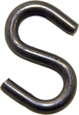 Hunting Versatile heavy-duty S-hooks that have multiple uses on the trapline. Attach chain to traps or extensions to snares. 3/16-diameter steel. Per 12. - $1.99