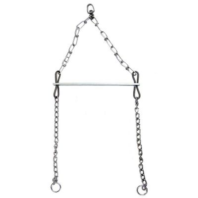 Hunting Universal skinning gambrel that uses chains to secure the furbearer for a worry-free hold. Swivels on top provides 360 range of motion for convenient operation. Works for squirrels to coyotes and anything in between. Type: Accessories. - $12.99