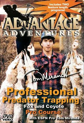 Hunting This four-volume in-depth DVD series takes you across multiple states with professional trapper Tom Miranda as he explores various trapping methods for a variety of furbearers. Available: Volume 1 Study the nuances of fox and coyote trapping with Tom Miranda on his South Dakota trap line. Learn to identify prime set locations and make the walk-through set in exacting detail. You will also learn step-by-step pointers on how to successfully call predators. 160 minutes. Volume 2 Tag along with Tom Miranda, Mark June and Bernie Barringer as they look at various water-trapping techniques to take raccoon, mink, muskrat and beaver. The instruction shared in this volume is some of the most extensive available. 150 minutes. Volume 3 This elite predator-trapping course takes you from the high-plains of South Dakota to the Arizona deserts in pursuit of various furbearing predators. Advanced sets and the proper use of snares is covered in detail. 150 minutes. Volume 4 Once again join Tom Miranda, Mark June and Bernie Barringer for extensive instruction on trapping techniques for fox, coyote, bobcat and raccoon. Filmed in South Dakota, Michigan and Iowa, youll learn different techniques for different regions. Included bonus footage of exciting predator-calling action in Colorado, South Dakota and Texas. 150 minutes. Color: Coyote. - $14.88