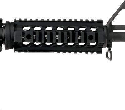 Heat-dissipating handguard provides an ultrastable Picatinny platform for mounting accessories. No alternations need to be made to the rifle. Its a drop-in screwless installation, and the units held in place by a Delta ring and handguard cap. Four Picatinny rails offer mounting options for your lights, lasers and other accessories. Continuous top rail eliminates the gap between receiver and rail. Made in USA. Available: Polymer, Aluminum. Color: Black. Color: Black. Type: AR-15 Forends. - $59.99