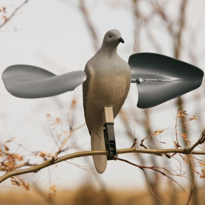 Hunting Mojo's new version of their popular dove decoy. The wings spin in the slightest breeze without the need for batteries and attracts doves from a distance. The realistic decoys utilizes the patented breast peg design and includes a support pole. - $14.99