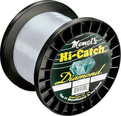 Fishing Momois Diamond series lines are constructed with a new formulation that offers tensile strengths up to 200% of stated line tests. It has a tougher finish for greater abrasion-resistance in extreme conditions and delivers exceptional knot strength. Comes in 1,000-yd. spools. Available: 12, 16, 20, 30, 40, 50, 60, 80, 100, and 130-lb. test Color: Clear. Color: Clear. Gender: Male. Age Group: Adult. Type: Saltwater MonFilament Lines. - $45.99