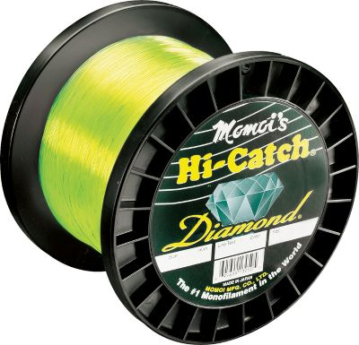 Fishing Momoi's Diamond series lines are constructed with a new formulation that offers tensile strengths up to 200 of stated line tests. It has a tougher finish for greater abrasion-resistance in extreme conditions and delivers exceptional knot strength. Comes in 1,000-yd. spools. Available: 12, 16, 20, 30, 40, 50, 60, and 80-lb. test Color: Yellow. Color: Yellow. Gender: Male. Age Group: Adult. Type: Saltwater MonFilament Lines. - $45.99