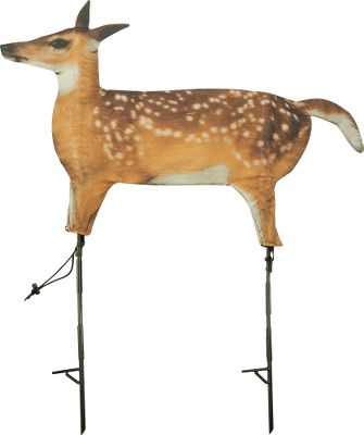 Hunting Pair this photorealistic decoy with a distressed fawn call for deadly results. This 2-D decoy is crafted of cotton/polyester fabric imprinted with the image of a real fawn photo. It looks like an easy meal no matter what angle a predator sees it from. Stakes included. Dimensions: Folded: 21L x 10W x 2H. Deployed: 39L x 28W. Weight: 22 oz. - $44.99