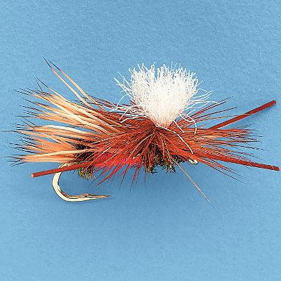 Flyfishing A time-proven color combination tied in a modern design. Rubber legs and white parachute post make this pattern easy to see as well as giving it a lifelike appearance. Peacock herl and red floss are proven attractor colors. This fly will work well as a general attractor pattern or to match a stonefly or caddis hatch. Per 3. Sizes: 6, 8, 10, 12, 14, 16. Color: Peacock. Type: Dry Flies. - $5.79