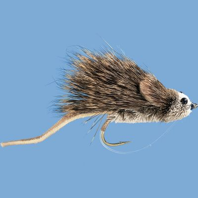 Flyfishing Bass, pike and even large trout will take a swimming mouse if given the opportunity. This deer hair mouse perfectly mimics one of these waterbound rodents as it tries to find solid ground. Use it in lakes around structure where a mouse might fall in the water or skate it close to the banks in rivers. Per each. Size: 6. - $4.29