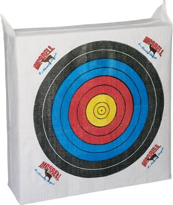 Hunting Ideal for young archers who wish to improve their skills by practicing at home. Recommended for bows with a draw weight of 30 lbs. and less. It has official 80cm FITA facing on the front, as is used in the National Archery Schools Program, along with four 80cm patches on the back. Internal Frame System Technology creates consistent depth to the edges of the target and maintains target shape for years of practice. Also boasts a floating center, multilayered design and weatherproof construction.Weight: 15 lbs.Dimensions: 28 x 28 x 10. Type: Bag Targets. - $39.99