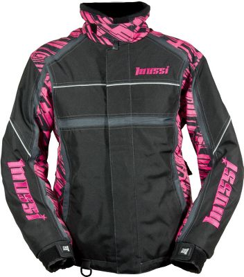 Entertainment Made of heavy-duty polyester, this shell features a unique paneled design with a tall, fleece-lined, neoprene-trimmed collar that is comfortable to wear even with a helmet. Flotex provides true buoyancy in the event of an emergency. Soft and warm Unifill insulation. Reflective 3M Scotchlite piping on the arms and chest ensures youre seen at night or in low-light conditions. An integrated snow skirt helps keep the snow and wind out. Polyester mesh liner provides breathability and comfort. Advanced inner storage is compatible with your media device to feed your earbuds safely up to your ears. Imported.Center back length for size M: 29.Sizes: S-2XL.Color: Fuchsia Edge. - $219.99