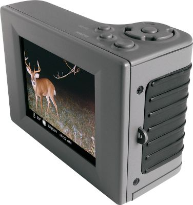 Hunting Can't wait to see what's on your game camera? Now you can have immediate access to all your game camera images and videos using Moultrie's Picture Viewer. View images in the field with the 2.8 TFT LCD viewing screen. The unit has dual SD card slots so you can transfer images to a storage SD card. It uses a mini USB connection. Easily view still images or video clips. Brighten and zoom in on images for close detail. Accepts SD memory cards up to 16GB (sold separately). Operates on four AAA batteries (not included). - $79.99