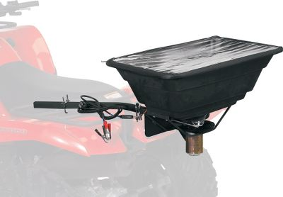 Hunting This spreader is designed for planting and fertilizing food plots around your hunting property. The frame has a load capacity of up to 50 lbs. Built-in quick-release system for fast and easy detaching of spreader bucket. Adjustable feeder gate allows you to easily control the rate of seed. Convenient shut-off gate. Universal mounting brackets. Power is supplied through alligator clips to the battery. Gender: Male. Age Group: Adult. - $87.99