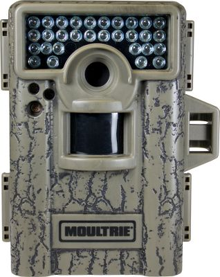 Hunting Small in size, big on features. This infrared mini game camera takes impressive 8MP photos and records HD video with sound, day or night. The SD memory-card slot accepts up to a 32GB card (not included), giving you the ability to capture thousands of photos and hours of video footage. The IR flash reaches up to 80 feet out as well as prolongs the flashs duration without sacrificing quality. An Illumi-Night sensor works with the infrared flash to produce brighter, clearer nighttime images. FastFire shooting mode captures four pictures per second with a trigger speed of less than one second. Motion-freeze blur reduction adds clarity for game identification. Every photo can be imprinted with moon phase, temperature, time, date and camera ID. 5/15- and 30-second or 1- to 60-minute picture delay captures game behavior, patterns and activity. Password protected for peace of mind. Runs on eight AA batteries (not included). Camo casing.Dimensions: 5H x 3.75W x 3D. Type: Infrared. - $109.88