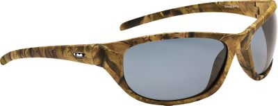 Entertainment Form-fitting, wrap-style sunglasses deliver the perfect blend of function and contemporary style. Unique matte-finished organic camo frames blends well with any natural setting. The polarized lenses filter out 99.9% of reflective glare and block 100% of UVA, UVB and UVC rays. Impact resistant to ANSI Z80.3 standards. Size: M/L.Available: Brown Lenses/Camo Brown Frames, Gray Lenses/Camo Green Frames. Type: Polarized. Gender: Men's. Lens Color Brown. Style Camo Brown. - $29.99