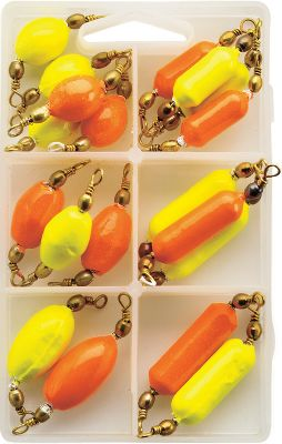 Fishing Designed by Mr. Crappie, Wally Marshall, this kit is ideal for slow-trolling live bait for crappies. Especially effective for spider-rigging or maintaining depths in wind. Swivel sinkers prevent line twist. Includes: Five 3/8-oz., three 1/2-oz. and two 3/4-oz. torpedo sinkers; five 3/8-oz., three 1/2-oz. and two 3/4-oz. egg sinkers. Includes 20 permacolor sinkers in Chartreuse and Flame Red. - $9.88