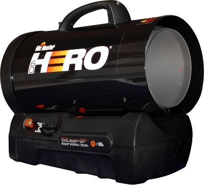 Camp and Hike From remote fields to your garage, Mr. Heaters patented, cordless, forced-air heater boasts up to 60,000-BTU of heating power, which warms up to 1,250 sq. ft. This versatile unit also runs on propane for up to 14 hours using a 20-lb. propane tank on low setting. Its Quiet Burner Technology yields 50% less noise than standard forced-air heaters. The internally rechargeable battery powers the heat for up to four hours on a single charge. A second battery (not included) can be added to extend the electrical run time up to eight hours. Runs while plugged in and charging. Recharges in three hours or six hours using two batteries. Electronic ignition. Includes a 10-ft. propane hose and regulator.ETL certified. Recommended for use in well-ventilated areas. Type: Heaters. - $229.99