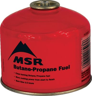 Camp and Hike Replenish your camping fuel supply for less with a 12-pack of premium MSR fuel. Isobutane and propane blend outperforms standard butane/propane mixtures and burns clean to reduce soot and clogs. Boosts performance of canister stoves, especially in cold conditions. Recyclable canisters. Per 12. Imported. Available: 4 oz., 8 oz., 16 oz. Size: 4 OZ. - $59.99