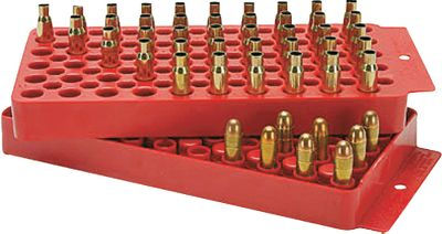 A two-sided loading tray that accommodates rifle calibers from .17 to .48 and handgun calibers from 9mm to .45. It even supports WSM, WSSM, Remington Ultra Mag. and .500 SW cases. - $7.99