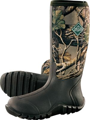 Hunting Learn more about Muck Rubber Boots. Some of the finest waterproof rubber boots in their class, versatile Fieldblazers perform equally well for camping, hunting and fishing. Check out what just a few Cabelas customers had to say about these versatile, muck boots. The best purchase in boots I have made in a while. I love them so much that I am now shopping for some for my three children! aael82, Idaho They fit me like a custom pair and are as light as sneakers. My feet were never cold, and you can role down the sides to air out or tuck in you pant legs. I never had wet feet and was able to walk through tangle foot with easeI say get a pair for yourself and you could hunt in them all day. Lauriespoorfarms, Franklin, VT At the heart of these hard-working rubber boots is Mucks waterproof, breathable and buoyant CR flex-foam booties with four-way-stretch nylon with breathable Airmesh linings. Stretch-fit topline bindings are snug and comfortable around your calves to trap warmth. Wrap-up toe bumpers and Achilles overlays protect your feet and add durability. Reinforced shanks for added support. Easy-off kick rims. Self-cleaning, all-terrain outsoles. Imported. Comfort range: Sub-freezing conditions to 85. Mens whole sizes: 5-13. Camo pattern: Cabelas Zonz Woodlands. Size: 13. Color: Camo. Gender: Male. Age Group: Adult. Pattern: Check. Material: Nylon. Type: Boots. - $129.99