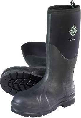 Hunting Sloppy, muck-mired chores demand Muck rubber boots. These all-conditions boots conquer the mud and also deliver excellent shock absorption for all-day comfort on hard surfaces like asphalt, concrete and rocky terrain. The lightweight rubber exteriors live up to Mucks legendary durability standards. Seamless rubber overlays promote quick cleaning. Stretch-fit topline bindings snug calves to keep warmth in and cold out. Lightweight CR flex-foam booties with four-way stretch nylon seal out water and stretch for a better fit. Breathable Airmesh linings. Achilles and instep reinforcements, along with wrap-up toe bumpers add protection. Kick rims for hands-free removal. Self-cleaning outsoles wrap the entire perimeter, ensuring maximum protection and stability on steep terrain. Imported. Height: 16. Average weight: 5.04 lbs./pair. Mens whole sizes: 8-13. Color: Black. Size: 8. Color: Black. Gender: Male. Age Group: Adult. Material: Nylon. Type: Boots. - $129.99
