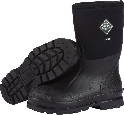 Hunting Versatile work boots for the sloppiest conditions. Lightweight and flexible 5mm CR flex-foam booties with four-way stretch nylon seal out water. Stretch-fit topline bindings snug to your calves to keep warmth in and cold out. Seamless rubber overlays promote quick cleaning. Diamond-textured toe and heel reinforcements resist scuffs and scratches. Triple-reinforced uppers in the toe areas and quadruple-reinforced in the heel areas. Achilles reinforcements for added protection. Steel shanks add arch support. Wide-cut heel bases increase stability. Durable, lightweight rubber outsoles. Breathable Airmesh linings wick away perspiration. Removable 6mm Nitracel EVA sock liners add support and slipper-soft molded comfort in the footbeds. Hands-free easy on and off. Comfort range from sub-freezing conditions to 85F. Imported. Mens sizes: 5-16. Color: Black. Size: 9. Color: Black. Gender: Male. Age Group: Adult. Material: Nylon. Type: Boots. - $99.99