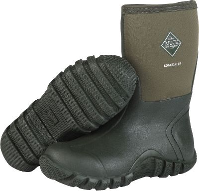 Hunting 5mm CR Flex-Foam booties with nylon overlays offer 100% waterproof performance, superior flexibility and a four-way-stretch fit for all-day comfort. Stretch-fit top bindings seal in warmth and block cold. Seamless, quick-clean vulcanized rubber overlays offer lightweight, high-strength durability. Self-cleaning outsoles wrap around the uppers for more stability on uneven terrain. Toe bumpers for added durability and feet protection. Breathable Airmesh linings offer quick-drying, moisture-wicking performance. Removable 6mm Nitracel EVAsockliners for extra cushioning and support. Reinforced Achilles areas for kick-off convenience. Imported. Comfort range: sub-freezing conditions to 85F. Mens sizes: 4-13. Color: Moss. Size: 11. Color: Green. Gender: Male. Age Group: Adult. Material: Nylon. - $104.99