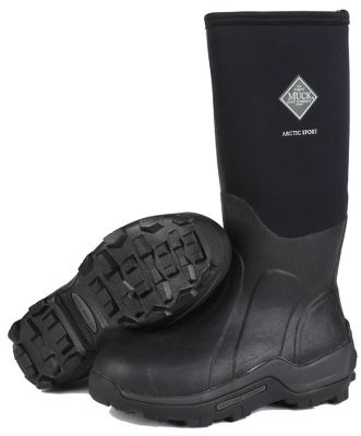 Hunting Rugged, snow- and ice-treading durability for the most punishing winter conditions. Plus they have the added protection of steel toes that meet ASTM F2413-05. CR flex-foam booties with four-way-stretch nylon overlays for 100% waterproof performance thats lighweight and flexible for easy-walking comfort. Cold-blocking 2mm thermal foam underlays in the instep areas preserve body heat. Breathable, moisture-wicking Airmesh linings for high-activity, all-day dryness. Step-cushioning EVA midsoles with ergonomic, contoured footbeds. Calf-hugging stretch-fit bindings seal in warmth. Double reinforcement in the insteps, heels and Achilles areas for long-lasting wear resistance. Aggressive MS-1 outsoles provide all-terrain stability and traction. Toecaps with wrap-up bumpers. Imported. Ht: 15. Avg. wt: 5.5 lbs./pair. Whole sizes: 8-14. Color: Black. Size: 15. Color: Black. Gender: Male. Age Group: Adult. Material: Nylon. Type: Boots. - $184.99