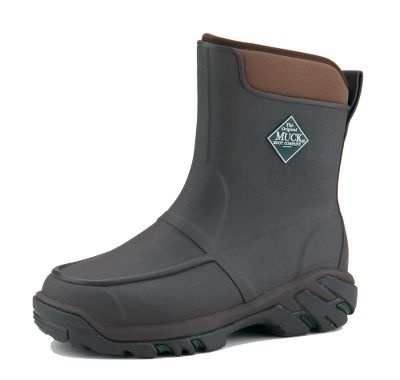 Hunting Rely on lightweight, flexible comfort from waterproof Muck boots with a classic upland-hunting profile. They are built on a snug, ankle-fit last and boast rubber overlays that clean up quickly. The 5mm CR flex-foam booties with four-way-stretch nylon deliver waterproof performance. Molded-rubber Speed-Tracker outsoles ensure ground-gripping traction. Molded EVA midsoles increase support and cushioning. Added toe protection with wrap-up toe bumpers. Comfort range from sub-freezing to 85F. Imported.Mens whole sizes: 8-13.Color: Bark. - $114.88