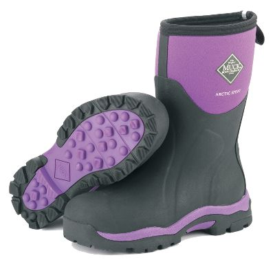 Hunting Womens-specific technology, like specially designed lasts and contoured outsoles, offer exceptional comfort with all the rugged, waterproof durability you expect from Muck boots. 5mm CR flex-foam booties with four-way-stretch nylon coverings offer a lightweight, naturally insulating alternative to stiff rubber boots. 2mm foam underlays in the instep areas keep feet warm on frozen ground and ice. Shock-absorbing EVA midsoles and ergonomically contoured footbeds. Reinforced toes with wrap-up toe bumpers for increased protection. Imported. Average weight: 4.19 lbs./pair.Womens whole sizes: 6-10.Color: Purple. - $79.88