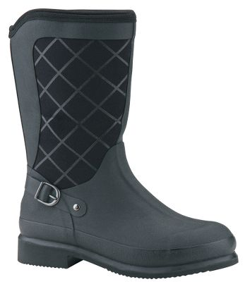 Hunting Equestrian inspired and built to deliver all-weather protection, performance and comfort. Breathable Airmesh linings wick moisture for dry comfort. Stretch-fit topline bindings fit snug around calves to keep warmth in and cold out. Easy to take on and off, the 5mm CR flex-foam booties with four-way-stretch nylon are 100% waterproof, lightweight and comfortable. Seamless rubber reinforcements are easy to clean. Wraparound foxing and Achilles reinforcements deliver maximum foot protection. Durable rubber outsoles and wide-cut heel bases create excellent stability on a wide variety of surfaces. Imported.Active comfort range: Subfreezing to 85F.Height: 12.5.Average weight: 3.4 lbs./pair. Womens whole sizes: 5-11. Colors: Black, Chocolate, Navy. - $134.99