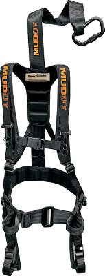 Hunting No other harness can match the Safeguards combination of safety, silence and light weight. The minimalist design has only a fraction of the surface area of competing vests less fabric means less scent. Super-silent, rubber-coated parachute buckles ensure rock-solid connections and ultralightweight operation. The Safeguard uses the lightest and quietest cam buckles on the market. They are infinitely adjustable and lock without any noise. Integrated binocular straps take the weight of your binoculars off your neck and puts it on your harness. System includes everything you need to climb and hunt safely even a Suspension Relief System (SRS). Tested to TMA standards. Imported. Weight: 1.9 lbs. Weight capacity: 300 lbs. Size: Small/Medium; max. height: 510, max. waist: 34 Large; max. height: 63, max. waist: 40 X-Large; max. height: 67, max. waist: 44 Color: Black. A Video Public Service Announcement from the TREESTAND MANUFACTURERS ASSOCIATION Color: Black. Type: Full-Body Harnesses. - $59.88