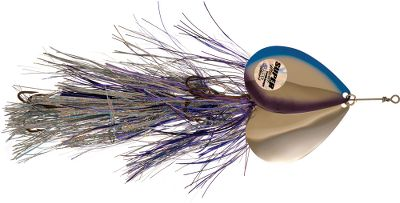 Fishing A large bucktail spinnerbait that targets the biggest freshwater predators. Devastating on muskies and large pike, it's outfitted with No. 13 blades and three Flashabou skirts, yet pulls less than some smaller lures. Cast or troll it along or over weed beds and rock bars in waters where big pike live. Size: 13, 4.5 oz. Colors: (001)Black/Nickle, (038)Cisco, (056)Black Fire, (057)Walleye. Color: Black. Gender: Female. Age Group: Kids. - $34.99