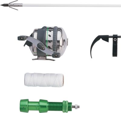 Hunting Land more fish and keep more money in your wallet with this affordable bowfishing setup. It has everything you need to get your bow ready for a season of bowfishing. The new Muzzy Xtreme Duty Bowfishing Reel features a stainless steel foot, steel and brass drive system, oversized stainless steel roller pickup pin, extra-large spool, increased line capacity, stainless steel hood and push-button cap. It also has dual spool shaft bearings, automotive disc type drag, and is convertible for right- or left-handed retrieve. The kit comes with a heavy-duty reel seat, full-containment Fish Hook Bowfishing Rest, 100 ft. of 200-lb. test line and a Muzzy 1020-C Classic fiberglass fishing arrow outfitted with a carp point. Attention: This reel is designed specifically for 200# Brownell Fast Flight line or 150# Braided Spectra Line Only. Other lines will not function properly and cause damage. Muzzy does not recommend the use of arrows with Safety Slides with this Reel as they can cause damage to the pickup pin and/or line breakage. Color: Stainless Steel. - $79.99