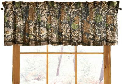 Entertainment Just like a good camo pattern breaks up your outline in the woods, this Cabelas Seclusion 3D valance breaks up the monotony of an ordinary room. In fact, it gives it a look as unique and committed to the outdoors as you are. Made of 70/30 poly/cotton. Imported. 88 x 15. Camo pattern:Cabelas Seclusion 3D. Color: Camo. Gender: Male. Age Group: Adult. - $24.99