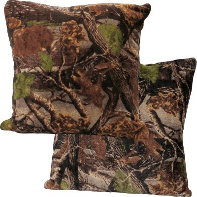 Entertainment Our ultrasoft, plush Camo Coral Fleece Pillows deserve plenty of face time. At these low prices, they make perfect additions throughout your home. 100% polyester fleece. Machine wash cold. Tumble dry low. Per 2. Imported. 18L x 18W. Camo patterns: Cabelas Zonz Woodlands Pink, Cabelas Zonz Woodlands, Cabelas Seclusion 3D. Size: 18X18. Color: Seclusion 3D. Type: Decorative Pillows. - $9.99