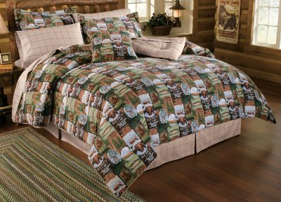 Camp and Hike Add a touch of wilderness flair to your bedroom with this Cabelas exclusive. This set includes everything needed for your Northwoods dcor, including; comforter, bed skirt, two decorative pillows, two shams (one sham with twin set), four-piece sheet set (twin includes three pieces), two pillowcases (one with twin set) and two 15 x 88 valances that pull the room together. Bed skirt, shams, sheets and valance are machine washable; comforter and decorative pillows are spot clean only. The comforter has warm 50/50 polyester/cotton fill. Comforter, shams, valance, decorative pillows and bed skirt are made of a soft, 65/35 polyester/cotton blend. 250-thread-count, 100% cotton sheets are warm and inviting. Machine wash cold. Imported.Available: Comforter Twin (68 x 90) Full (80 x 90) Queen (92 x 96) King (110 x 96) Sham sizes: Standard: 20 x 26 King: 20 x 36Pillowcase sizes: Standard: 21 x 30 King: 21 x 40Decorative pillow size: 18 x 18. - $59.88