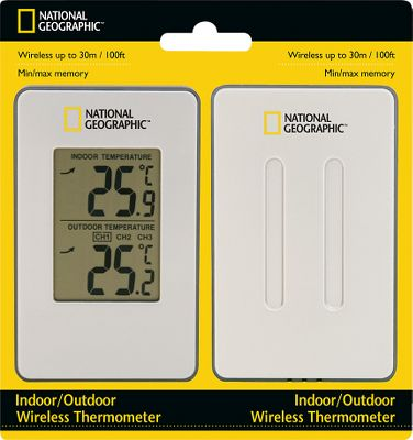 Camp and Hike Monitor indoor and outdoor temperatures with this simple, easy to use unit. It includes a wireless remote sensor with a range of 100 ft. Stores minimum and maximum temperatures in its built-in memory and displays temperature trends. Updated with a larger LCD. Requires four AAA batteries (not included). Multiple sensor capability lets you add up to three remote sensors (sold separately). Type: Thermometer. - $4.88
