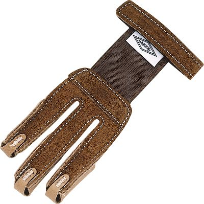 Hunting This glove is designed for smaller hands. It has an elastic back insert for a comfortable fit, as well as hook-and-loop fasteners and smooth leather fingertips for an easy release. Sizes: Small, Medium. Type: Archery Gloves/Tabs. Size Small. - $9.88