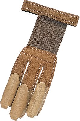 Hunting Deluxe leather shooting glove combines maximum finger protection with the sensitivity needed to for a consistent, smooth release. Features a leather back, elastic tips, elastic back insert and a Velcro fastener to ensure a comfortable, secure fit. Fits right- or left-hand. Sizes: S-XL. Type: Archery Gloves/Tabs. Size Small. - $10.88