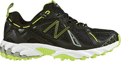 Fitness Rugged and advanced, these trail runners are performance enhanced to take you farther down the path. Equipped with all-terrain AT Tread and long-lasting Ndurance rubber compound, the all-terrain outsoles combine a running and trail-lug configuration that delivers a rock-solid grip over a huge variety of terrains. N-fuse technology combines a less-dense top foam for soft cushioning with a denser bottom foam for support and a compression-set resistance to keep feet comfortable over longer distances. These injection-molded EVA midsoles also deliver outstanding flexibility. Synthetic mesh uppers for lightweight breathability. Imported. Womens sizes: 5-12 B and D width. Half sizes to 11. Color: Black/Green. - $67.99