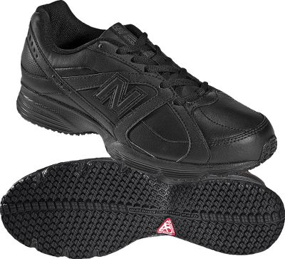 Fitness Perfect for service occupations and fitness walkers, New Balances 512 walking shoes have slip- and oil-resistant outsoles with premium traction and a channeling system that flushes out contaminants and forces debris out of the tread. High-quality Abzorb inserts and injection-molded EVA foam midsoles make for all-day comfort with firm yet flexible cushioning. Full-grain leather and synthetic uppers are hard working, whether youre wearing them for work or play. Imported.Womens sizes: 5-12 B and D widths. Half sizes to 11.Colors: Black, White. - $69.99