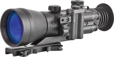 Hunting The 4X100 D-740 nightvision riflescopes from Night Optics combine years of experience with the latest technological developments. Standard features include a waterproof, purge-capable housing, an illuminated red- or amber-on-green mil-dot reticle, high-grade multicoated optics and a quick-release, throw-lever mount. With guaranteed zero retention on medium-caliber weapons (including .308 caliber), these riflescopes are the choice for military and law-enforcement professionals. The Generation 2+ model features an improved image-intensifier tube that uses a microchannel plate (MCP) with an S-25 photocathode (a negatively-charged electrode in a light-detection device) that produces much brighter imagery, resolution and reliability; this means better illumination in low ambient-light environments, such as moonless nights. Its also equipped with better optics for improved resolution and a better signal-to-noise ratio. The Generation 3 models have the same MCP as the Generation 2+ model, but instead have a photocathode made with gallium arsenide, which further improves image resolution. Additionally, the MCP on these models is coated with an ion-barrier film for increased tube life and the light amplication is over twice that of Generation 2+. Each one runs on two AA batteries (included) for up to 60 hours. Comes with a carry case and an operators manual. Optimal operating temperature range is -40F to 122F. Two-year limited manufacturers warranty. Dimensions: 9L x 3.5W x 4H. Weight: 2.4 lbs. Available: NS-740-2H Generation 2+. Detection range of 984 feet with a recognition range of 740 feet. NS-740-3S Generation 3. Detection range of 1,395 feet with a recognition range of 1,148 feet. NS-740-3GM Generation 3. Features manual gain ran - $2,999.99